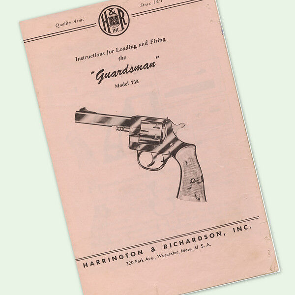 H&R GUARDSMAN 732 INSTRUCTIONS PARTS OWNERS GUN MANUAL