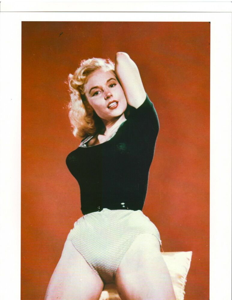 BETTY BROSMER /Weider Pin-up Black Top COLOR PHOTO 1950s