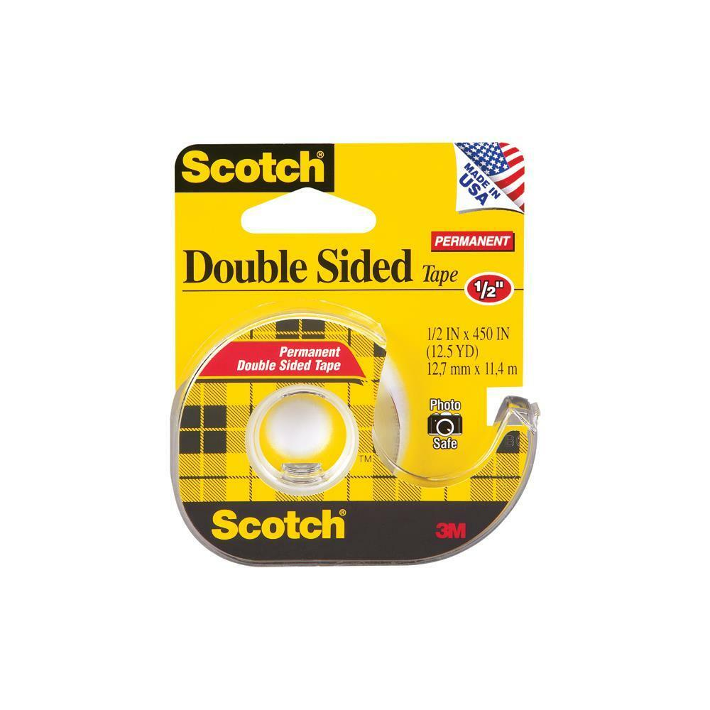 scotch permanent double sided tape photo safe 5 x 450 or 75 x 300 ebay. Black Bedroom Furniture Sets. Home Design Ideas