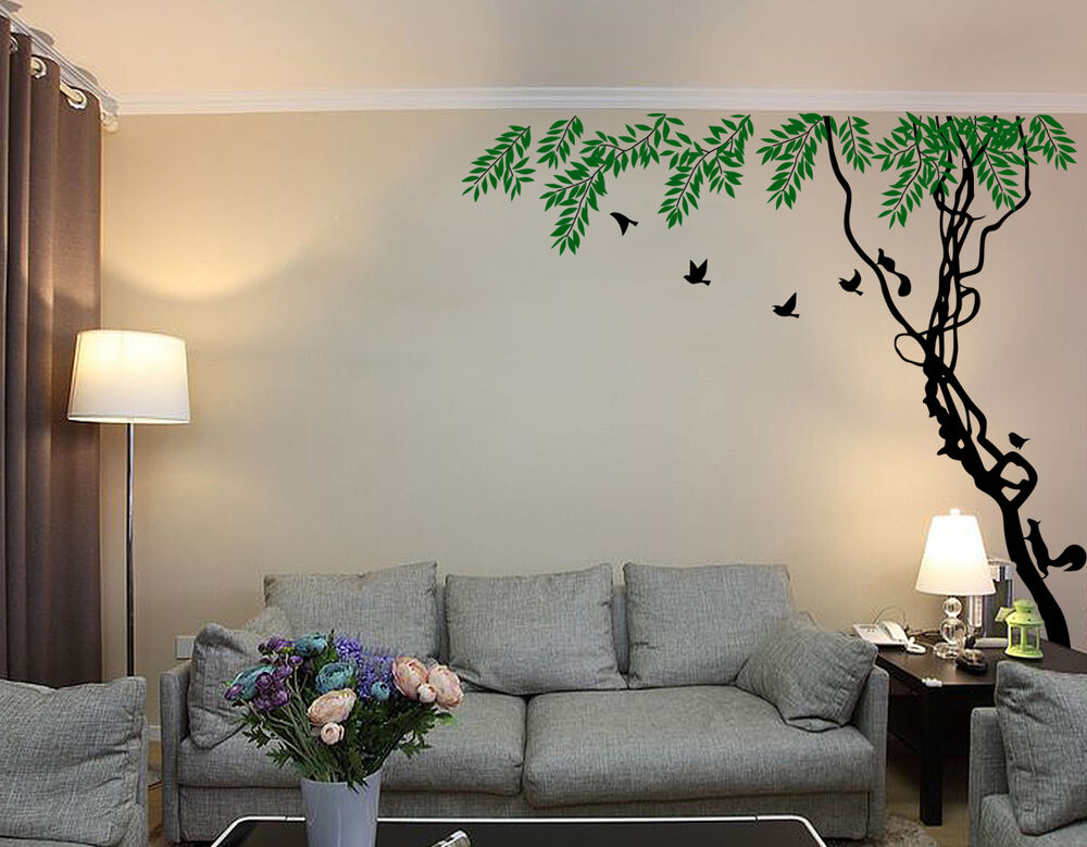 Tree Forest Squirrel Room Wall Stickers Decal Vinyl Decor