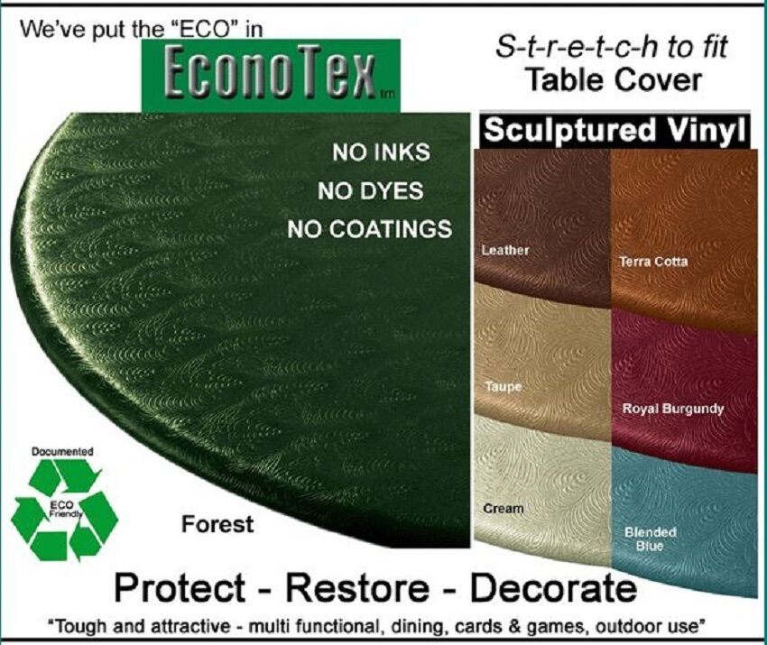 Stretch To Fit Elastic Edge Round Vinyl Tablecloth 36 48 Colonial Blue EBay