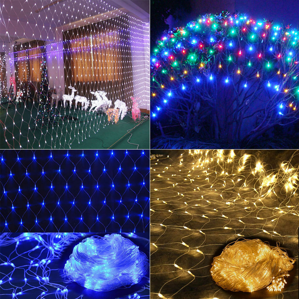 2x3m 4x6m led fairy string net light christmas xmas tree for Window net lights