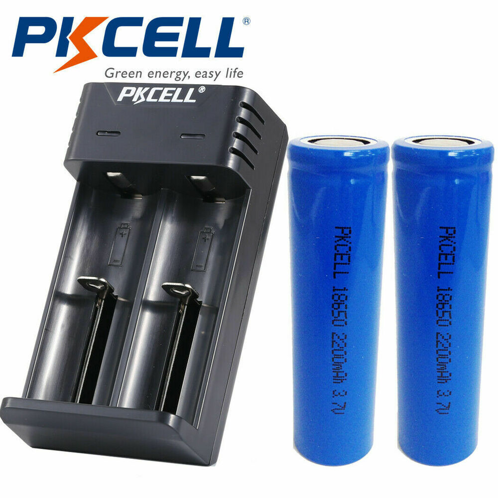 4 icr 18650 li ion rechargeable 2200mah 3 7v lithium mod battery flat top ebay. Black Bedroom Furniture Sets. Home Design Ideas