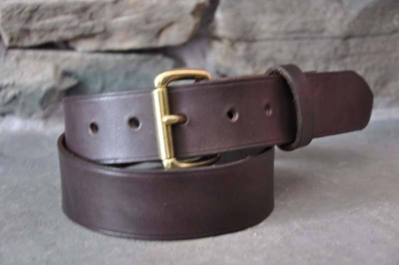 s brown leather belt 1 1 2 quot wide custom made quality
