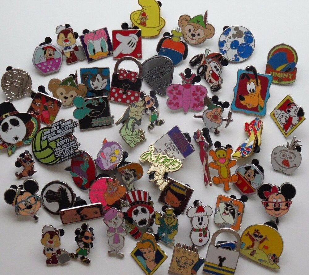 Disney Pins: Disney Pin Lot Of 25 Trader Pins All Authentic Great For