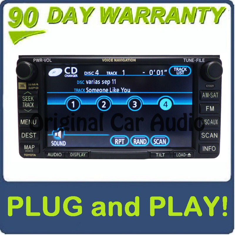 2007 2008 toyota solara oem navigation system gps sat jbl radio cd player e7009 ebay. Black Bedroom Furniture Sets. Home Design Ideas