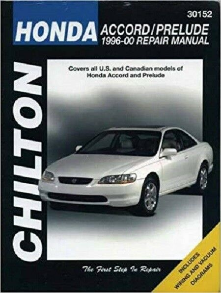1996 1997 1998 1999 2000 Honda Accord Prelude Repair border=
