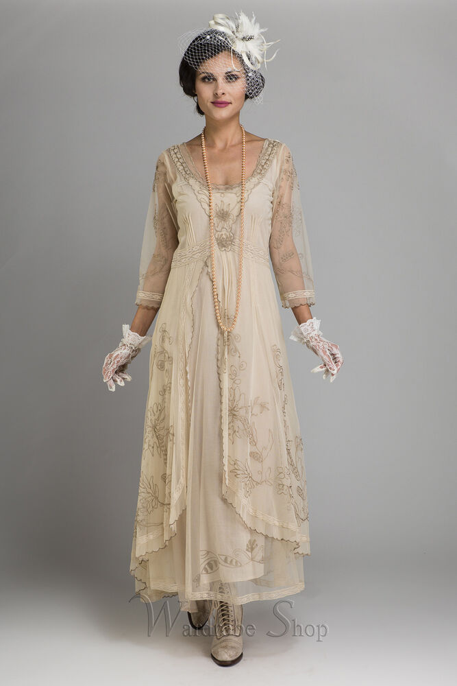 Nataya Downton Abbey Embroidered Wedding Dress 40163