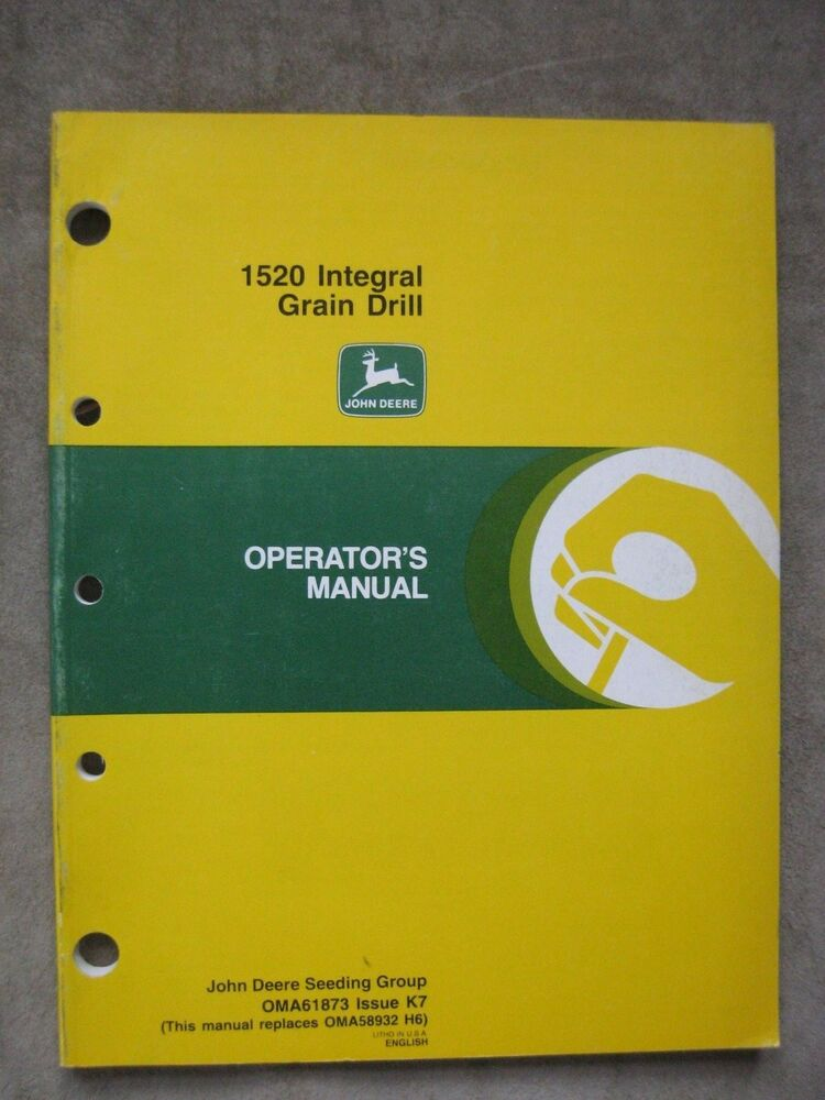 John Deere 1520 Integral Grain Drill Operators Manual Jdk7