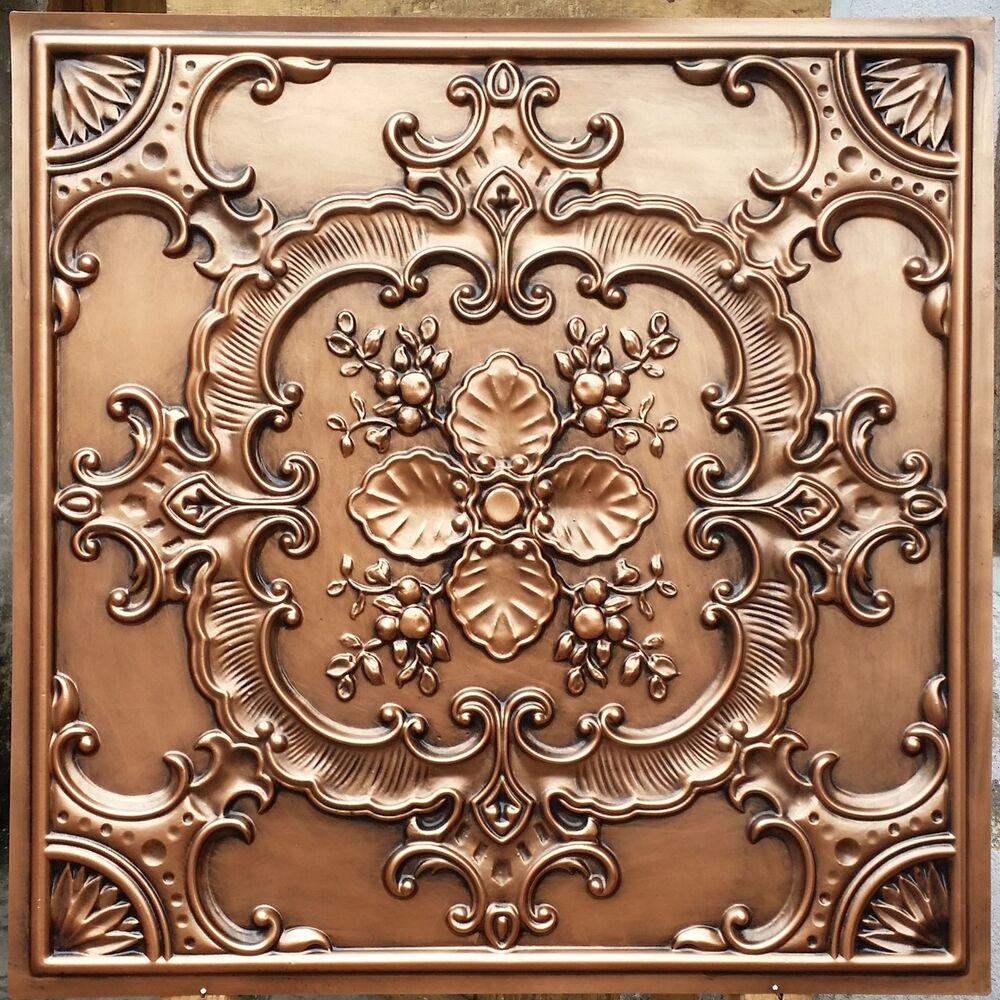 Embassy And Wall Design Ceiling Tiles : Pl faux finishes tin antique copper ceiling tiles decor