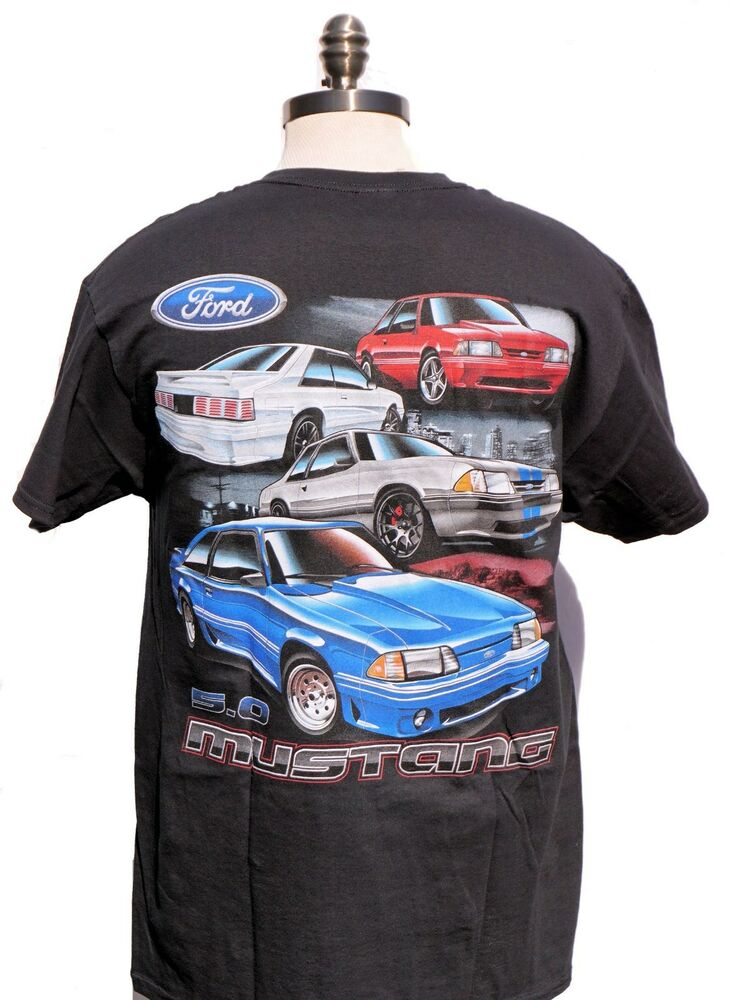 Parts Of A Car 94 >> MUSTANG FOX BODY 5.0 BRAND NEW T SHIRT WITH MULTI CARS AND 2 SIDED PRINT LIMITED | eBay