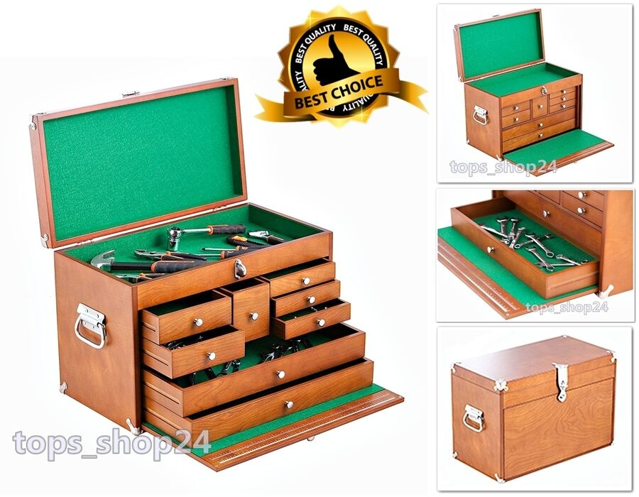 Wood craft machinist cabinet hardware toolbox chest drawer for Quality craft tool box