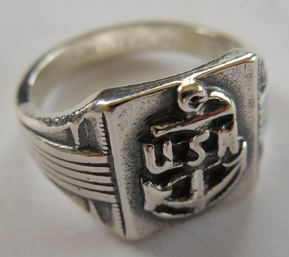 ww2 wwii usa us navy sterling silver usn ring ebay