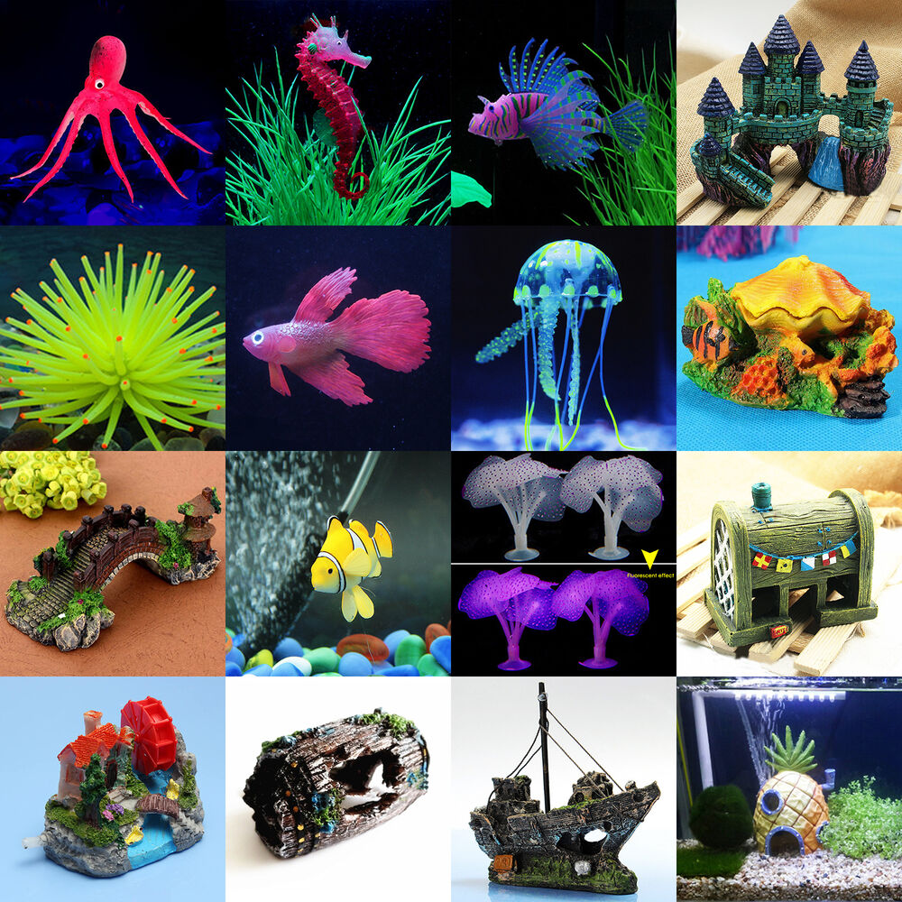 Various artificial sea animals aquarium fish tank for Aquarium decoration diy