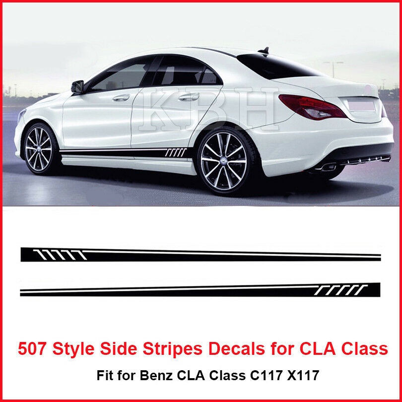 507 style side stripes sticker for mercedes benz w117 c117 for Mercedes benz decal