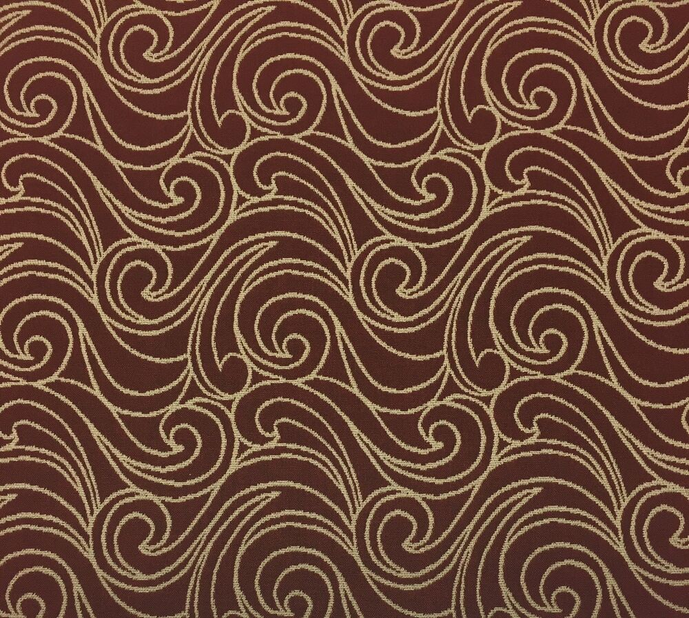 Outdura frolic poppy red beige jacquard sunbrella type for Purchase fabric by the yard