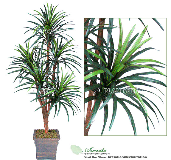 6 39 yucca x5 artificial tropical tree silk plant new with no pot ebay. Black Bedroom Furniture Sets. Home Design Ideas
