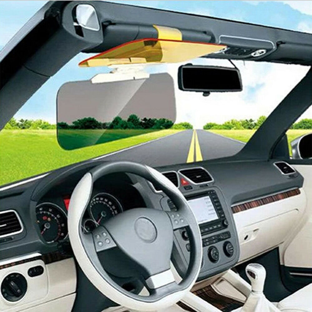 car sunshade day night sun visor anti glare clip on driving vehicle shield qt ebay. Black Bedroom Furniture Sets. Home Design Ideas