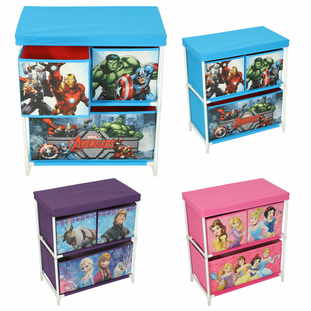 Paw Patrol Toy Organizer Bin Cubby Kids Child Storage Box: Children's Toy Storage Box 3 Drawer Cabinet Marvel Disney