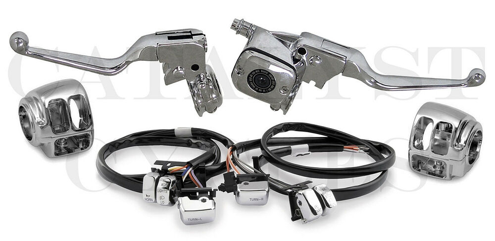 complete chrome hand controls with chrome switches  48