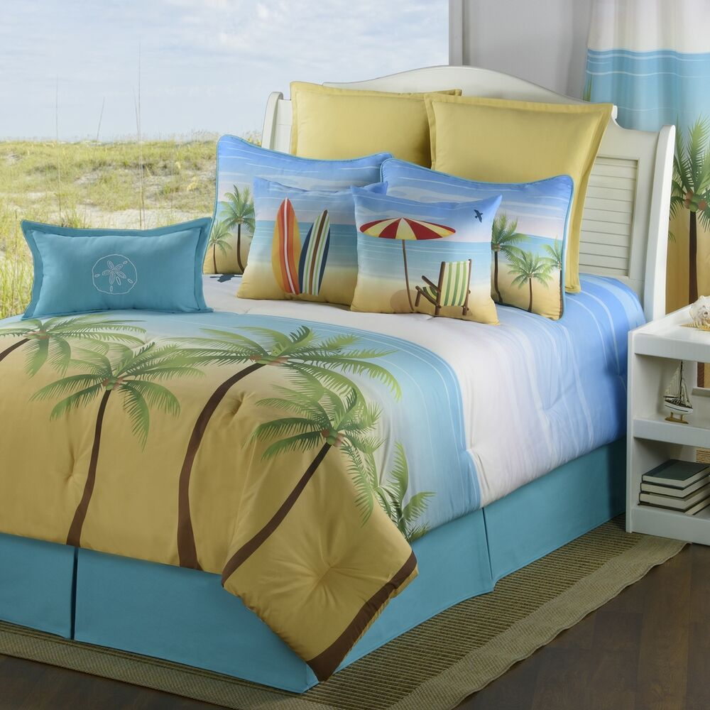 Palm Coast Bedding Collections Coastal Surfing Tropical