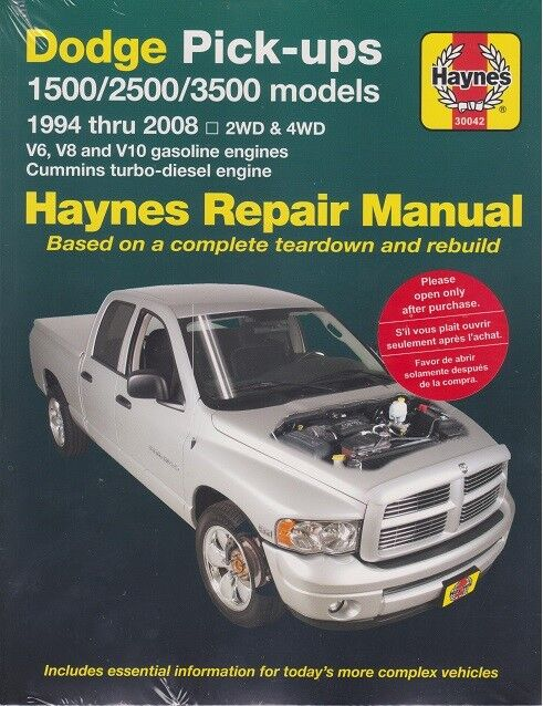 1994 2001 dodge ram 2  4wd v6  v8  10  diesel repair manual dodge ram 1500 service manual dodge ram service manual 2008