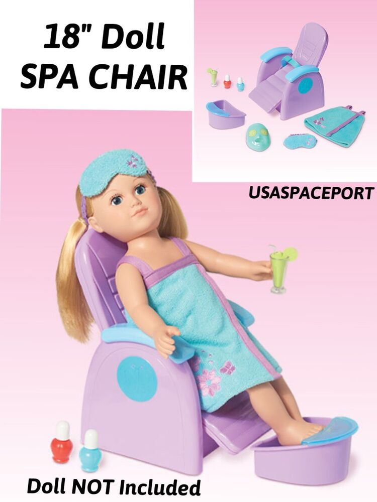 My Life As 18 Quot Doll Blue Beauty Salon Spa Chair Robe