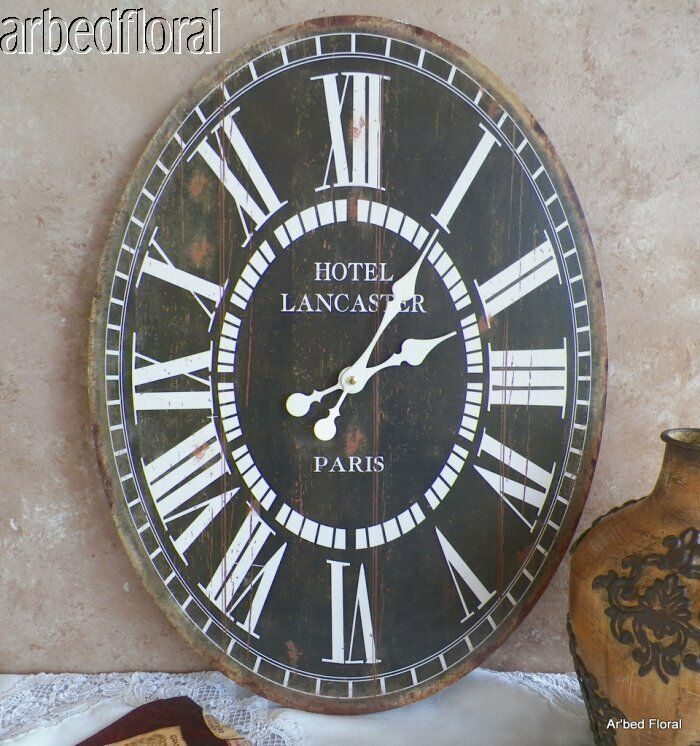 23 quot wooden large oval hotel lancaster wall clock ebay