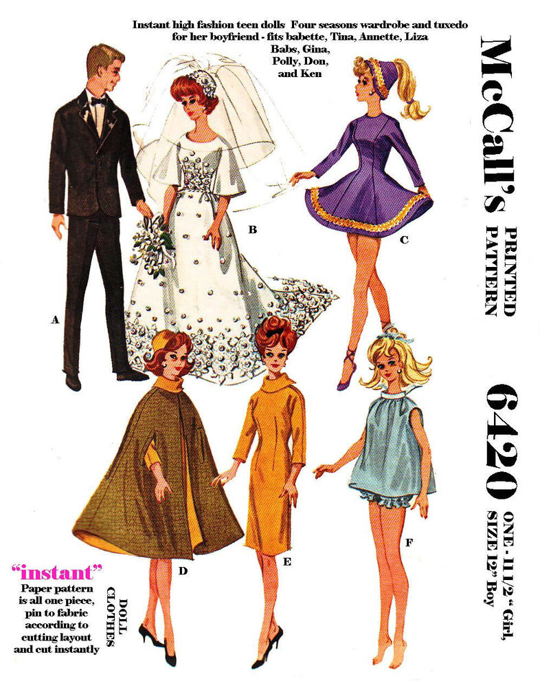 This is a picture of Persnickety Ken Doll Patterns