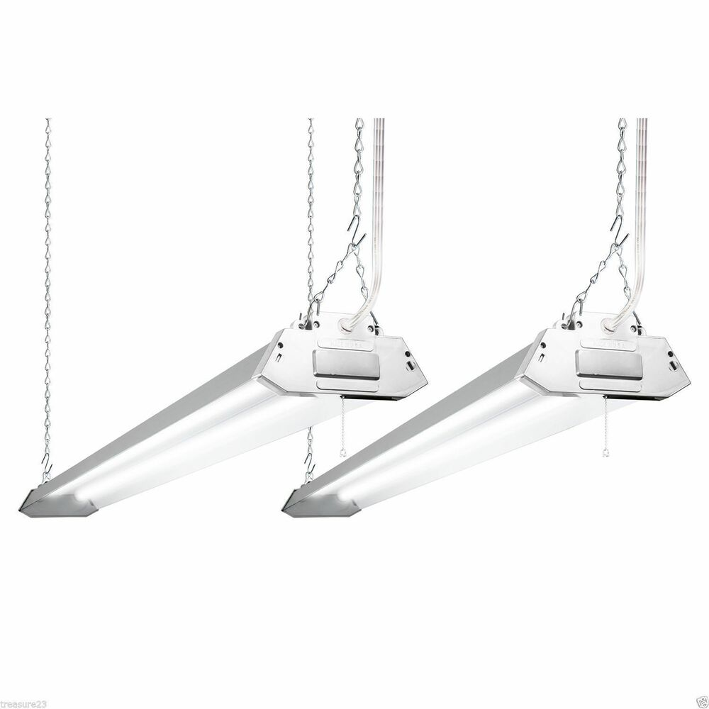 New Two 4' Shoplight Hanging Light Fixture 4500 Lumens 40