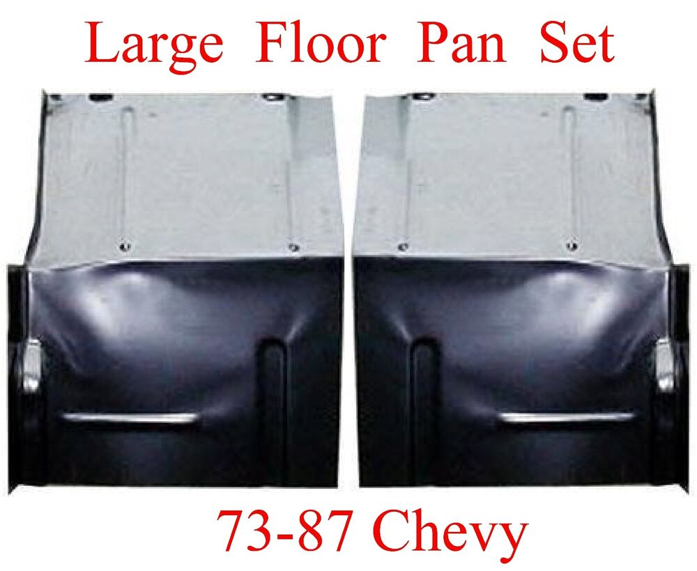 73 87 LARGE Floor Pan Set W Backing Plate Fits Chevy GMC ...