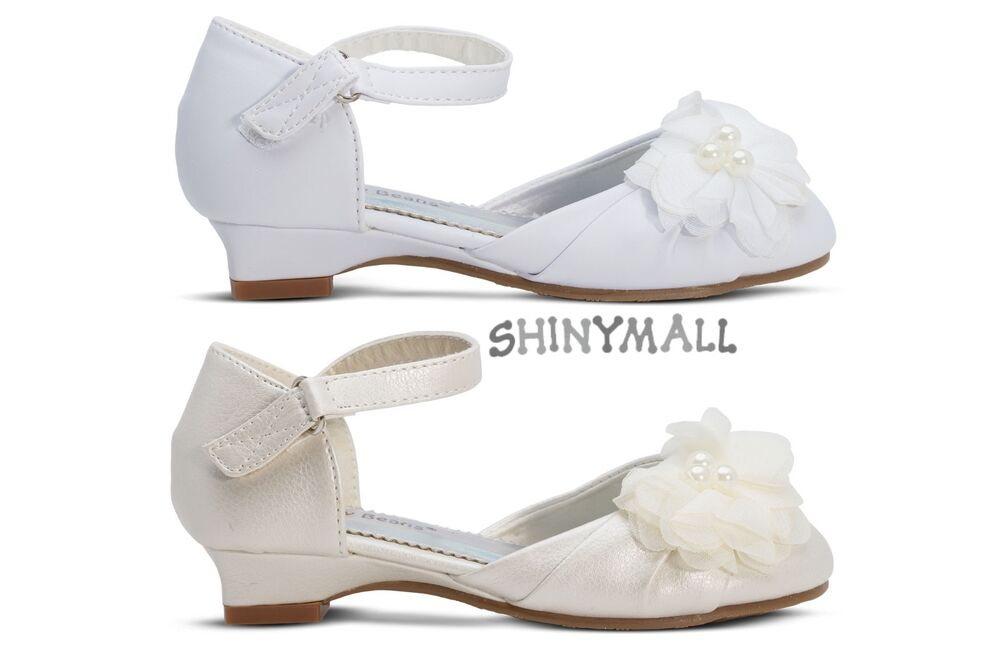 Girls toddlers youth wedding first communion mary jane for Girls dress shoes for wedding