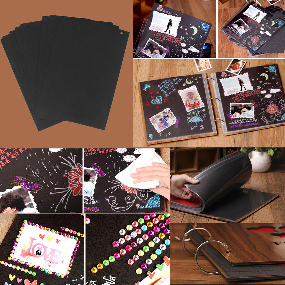 Diy Wedding Album Ideas: 30pcs Scrapbook Photo Album DIY Mount Black Sheets Refill
