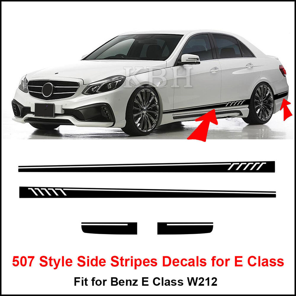 507 style side stripes sticker for mercedes benz w212 e 63 for Mercedes benz decals