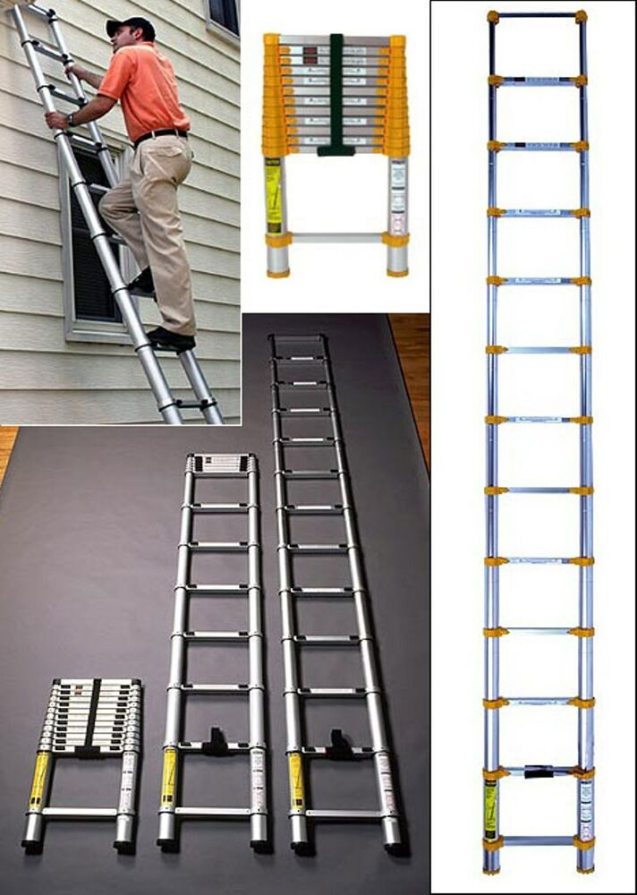 Uk Trader 3 2m 3 8m Extension Telescopic Ladder Steps