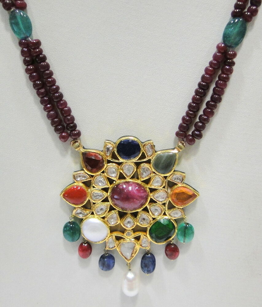 Gold plated Indian jewelry set - Indian Designs  |Indian Gold Pendants