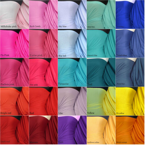 100% COTTON stretch light cotton jersey PLAIN FABRIC lightweight material
