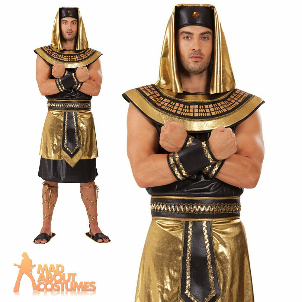 Adult egyptian king costume pharaoh ancient greek mens fancy dress adult egyptian king costume pharaoh ancient greek mens fancy dress outfit new ebay solutioingenieria Image collections