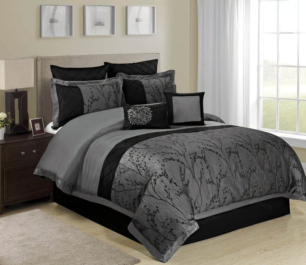 8 piece bedding set homechoic 8 weistera jacquard tree branches 3948
