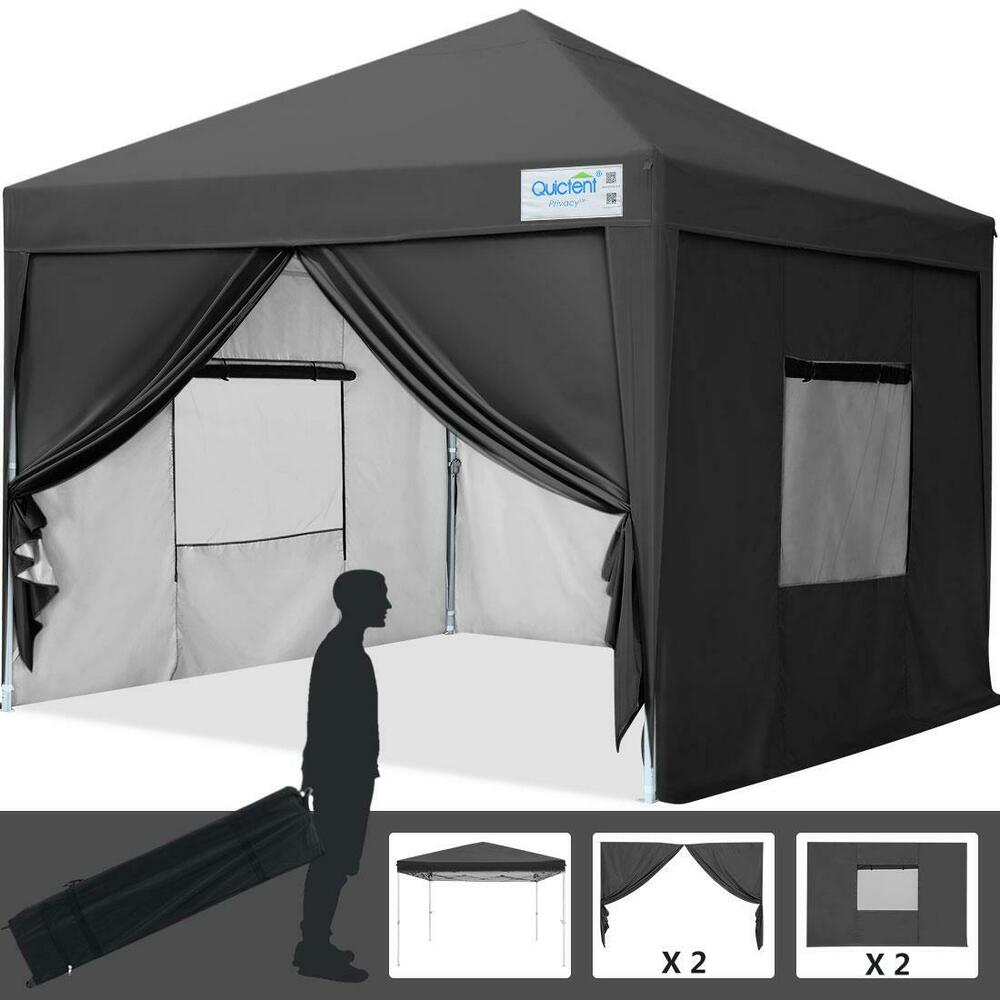 Privacy Curtain For 10x10 Gazebo : Quictent privacy x black screen curtain ez pop up