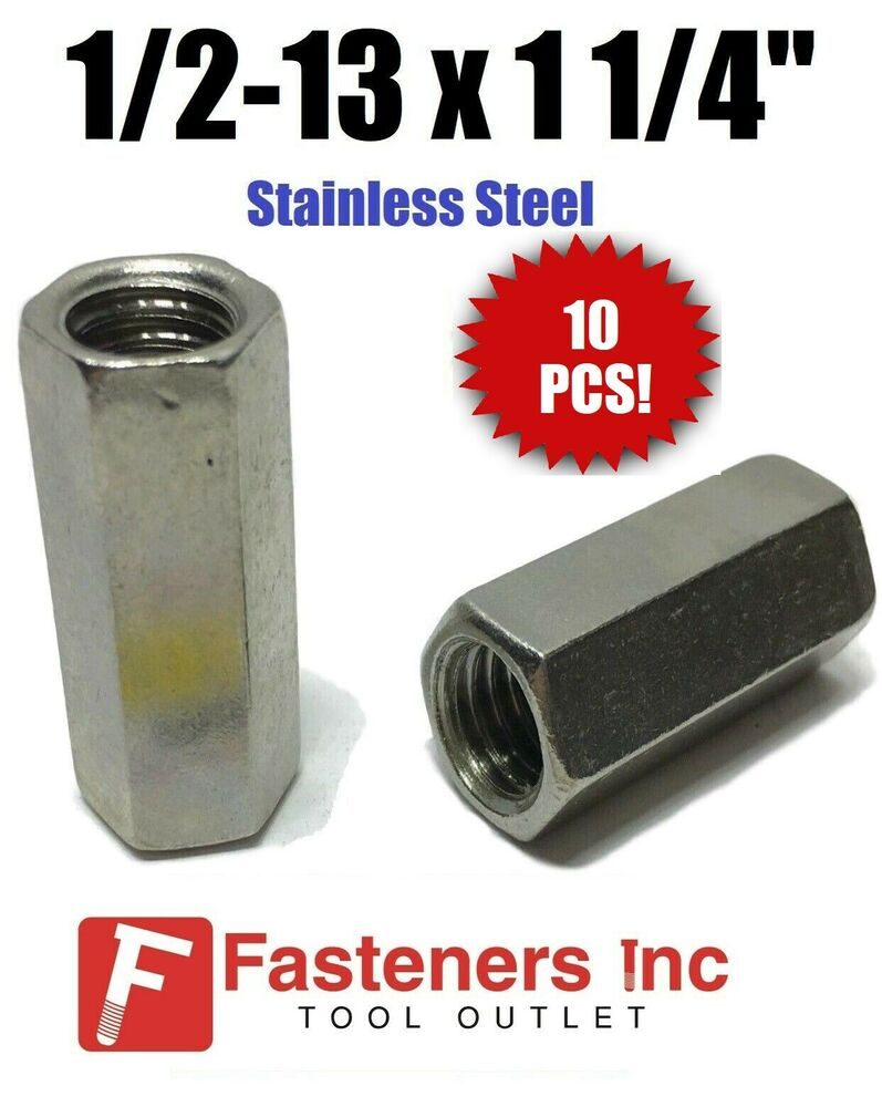 1 2 Quot Threaded Steel Couplers : Qty quot w l stainless steel