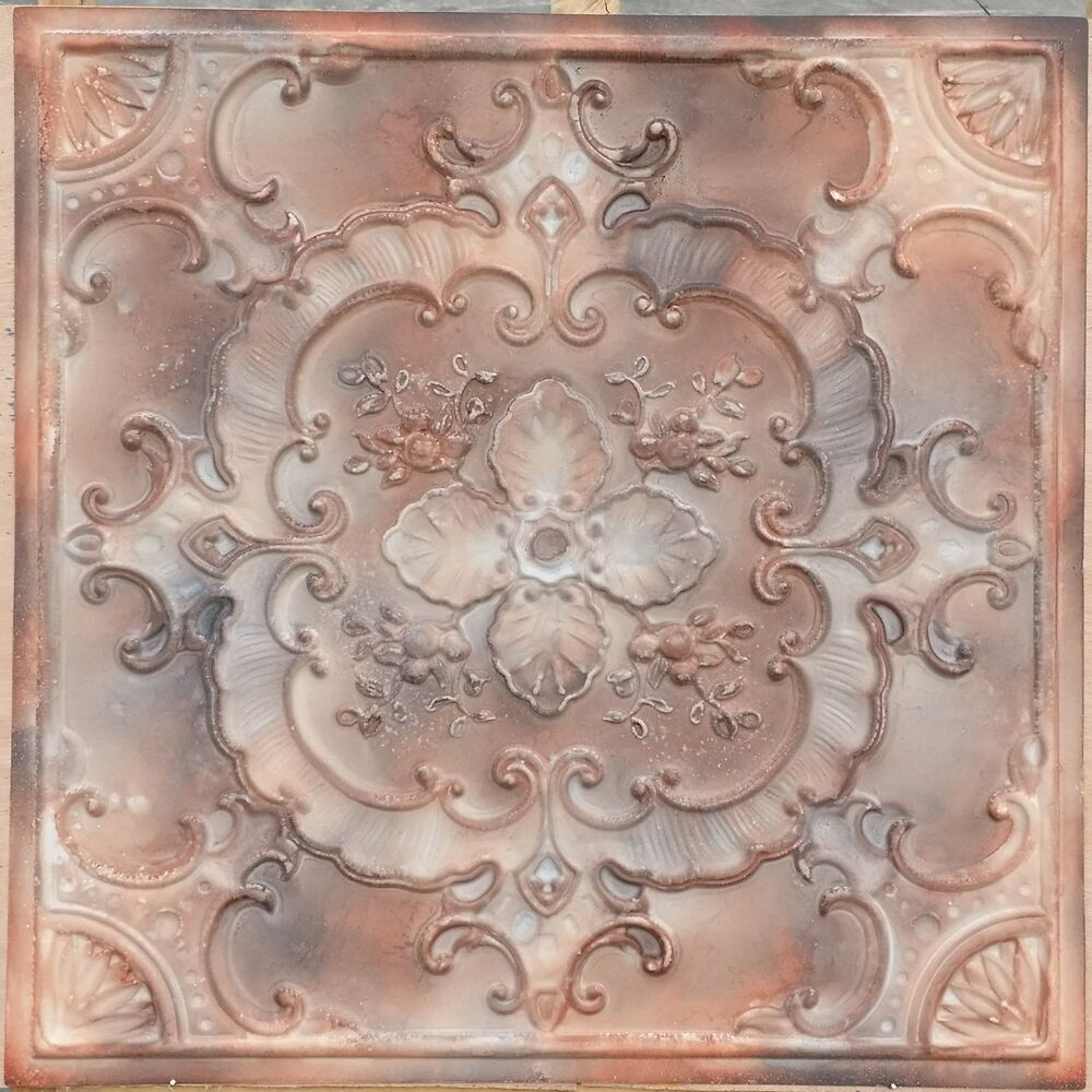 pl19 faux tin country style aged ceiling tiles decorative. Black Bedroom Furniture Sets. Home Design Ideas