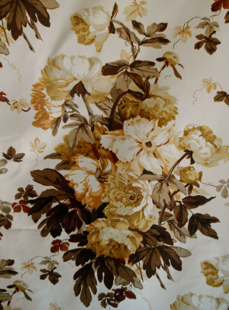 Warner Fabric Quot Large Peonies Quot 6 Yard Lot English Country