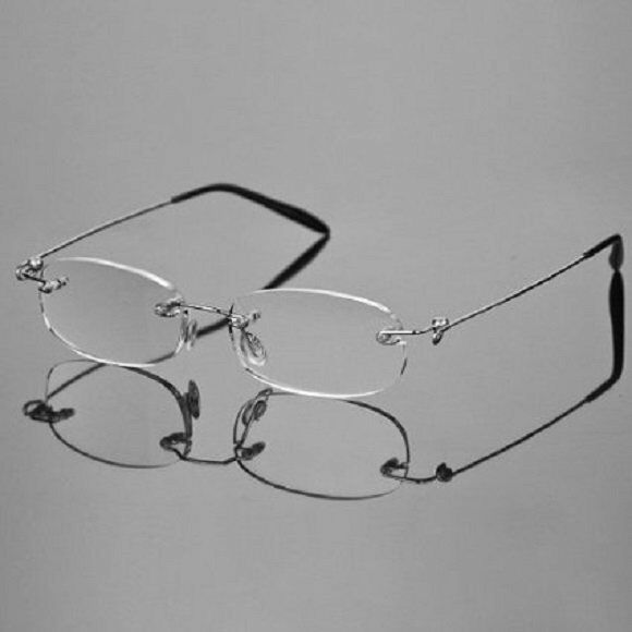 Rimless Glasses Durability : Spring Hinge Rimless Reading Glasses Reader Clear Lens ...