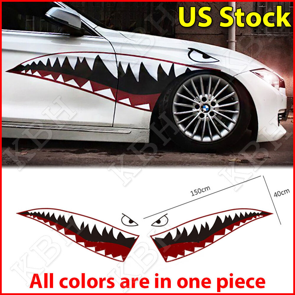59 Quot Shark Mouth Tooth Flying Tiger Die Cut Vinyl Decal