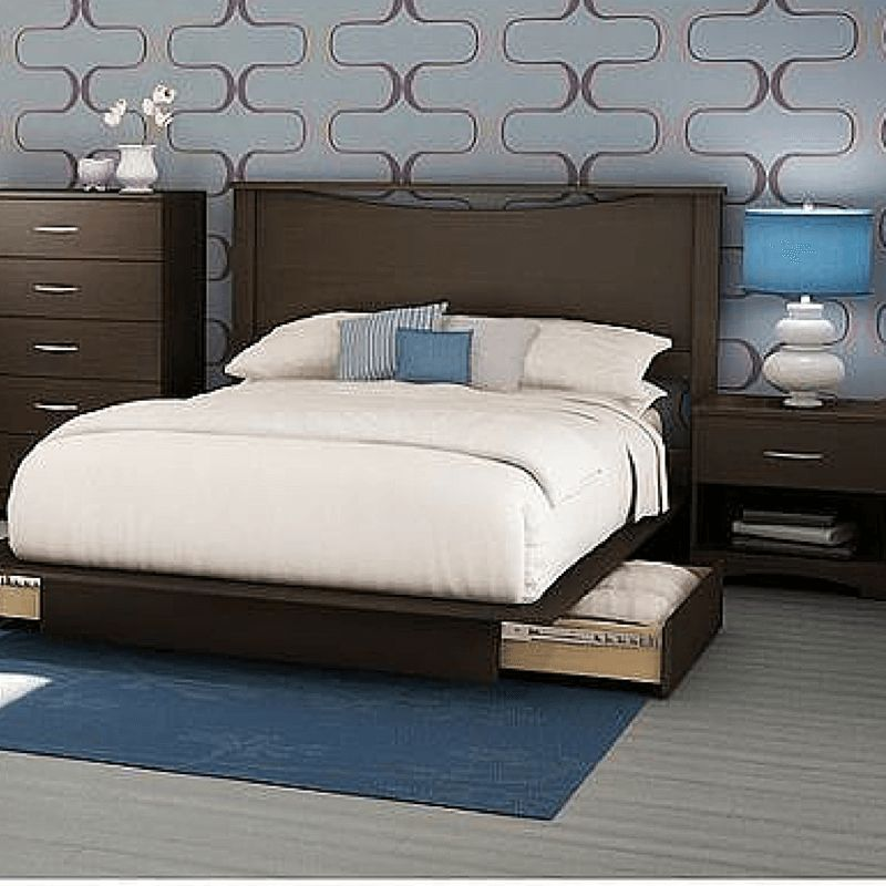 Details About White 3 Piece Storage Drawers Twin Bed Box: Full Queen Storage Platform Bed 4 Piece Bedroom Set