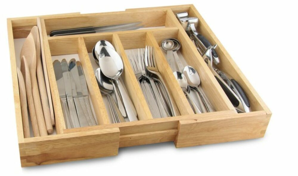 kitchen utensil organizer drawer cutlery drawer utensil holder organizer tray wooden 6370