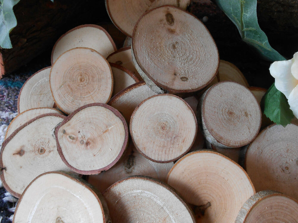 Wood Pieces For Crafts ~ Maple piece quot rustic wood slices for crafts