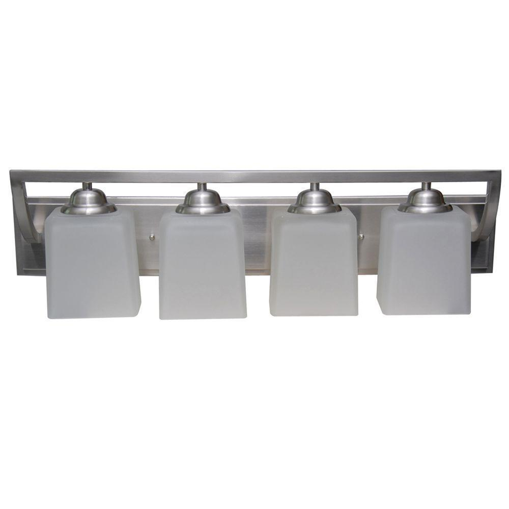 Hampton Bay Canton 4-Light Brushed Nickel Vanity ~ Retails ...