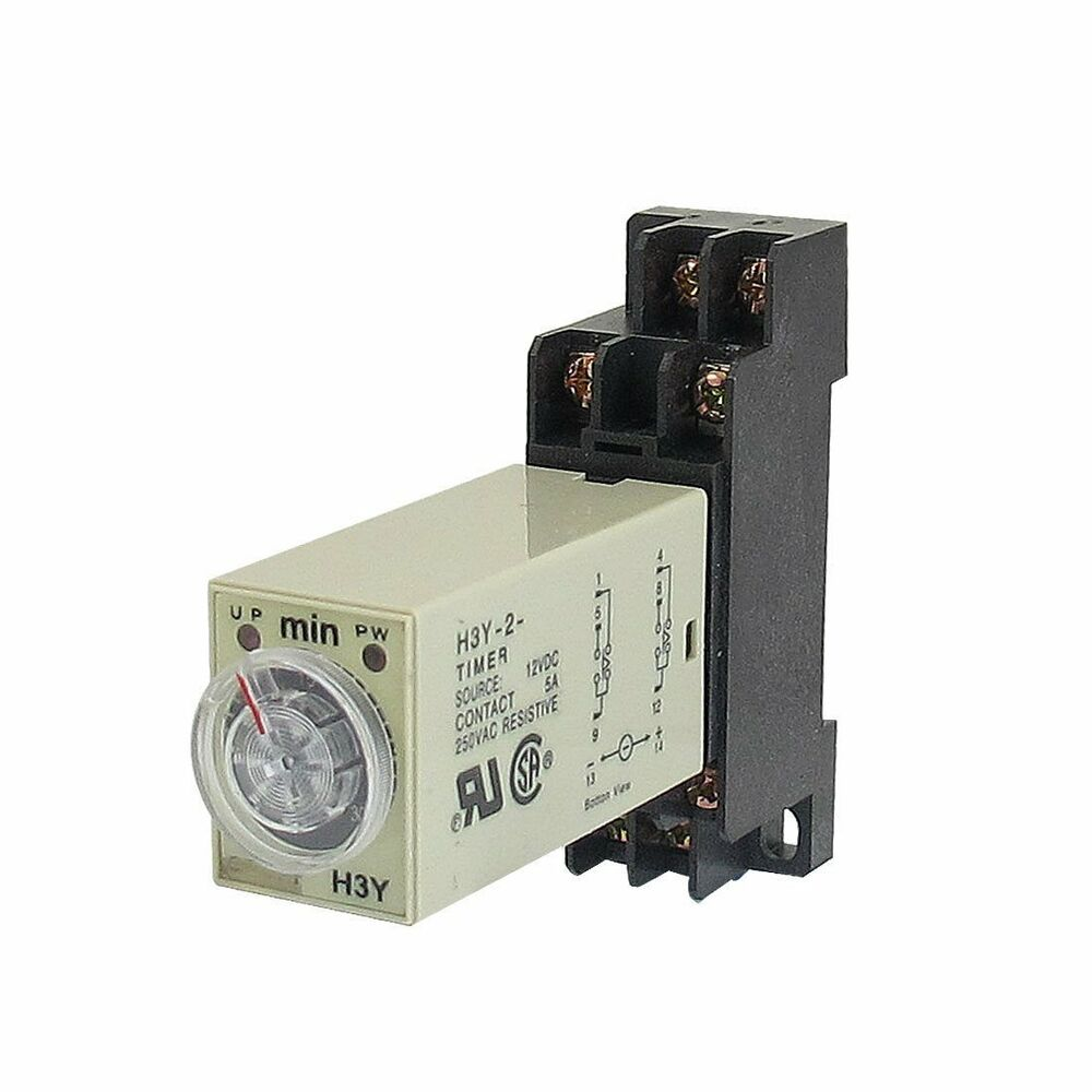 H3y 2 Ac110v Delay Timer Time Relay 0 5 Minute With Base